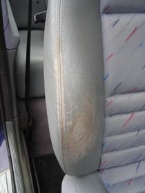 repairing worn leather seats